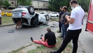 Lüks cip kaza yaptı:1 yaralı