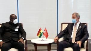 Hulusi Akar, Gana Savunma Bakanı ile bir araya geldi
