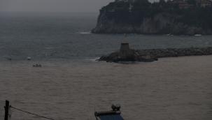 Zonguldak Limanı çamur rengine döndü